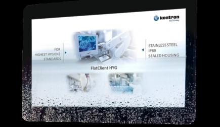Kontron präsentiert Panel-PC FlatClient HYG mit IP69K für hygienisch sensible Anwendungen